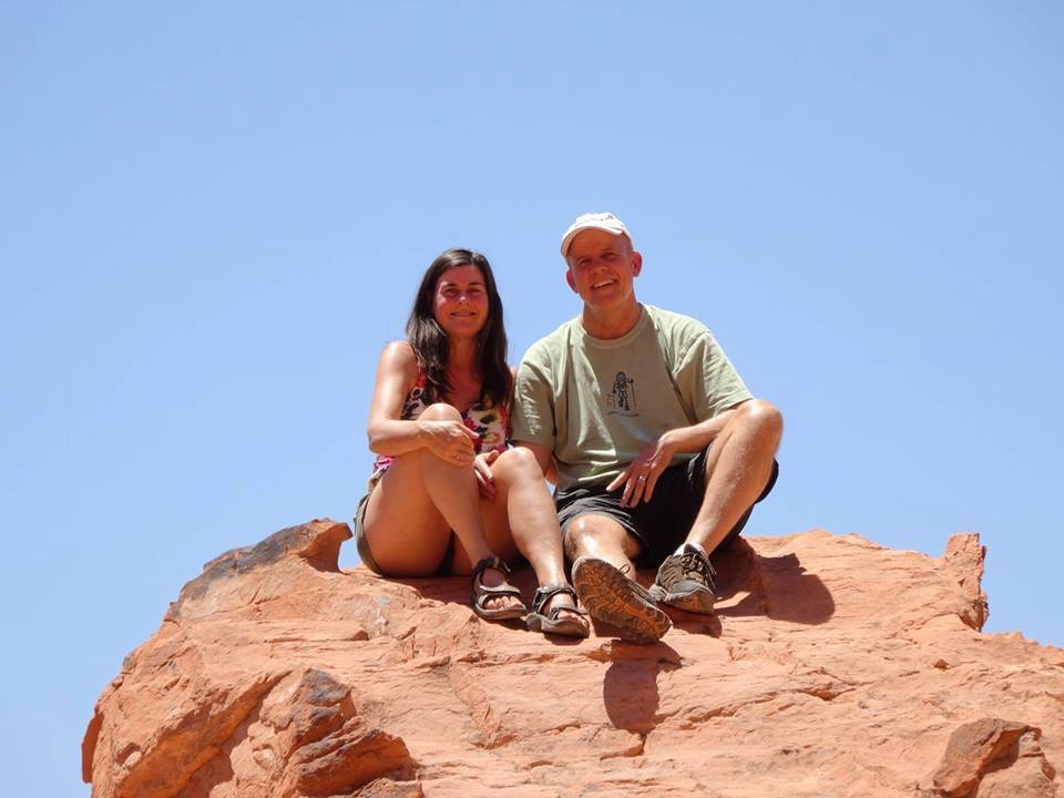 Carolyn and David Marn at Valley of Fire State Park, Nevada - June 2015