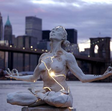 Electromagnetically Empowered Woman Statue